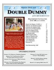 January 2010 Double dummy - Marin Unit #508