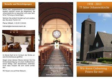 Flyer Johanneskirche 2013 - Kirchenkreis Hamm