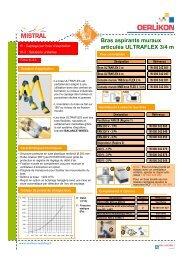 III-3.4 Bras aspirants muraux articules ULTRAFLEX - Oerlikon
