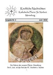 Ausgabe Nr. 2, Juni 2010 ( PDF -Datei, 291 kB) - Katholische Pfarrei ...