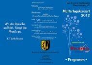 Konzertprogramm - Musikverein Stadtkapelle Oberriexingen eV