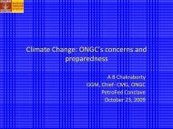 Climate Change: ONGC's concerns and preparedness - petrofed ...