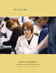 YOU WILL BE - DePaul University