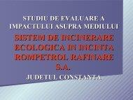 sistem de incinerare ecologica in incinta rompetrol rafinare sa