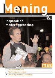 Mening nr 8, dec2006 - MEE Zuidoost Brabant