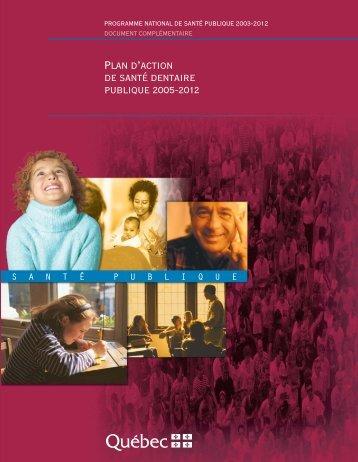 Plan d'action de santé dentaire publique 2005-2012