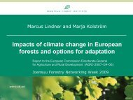 Impacts of climate change in European forests and options for ...