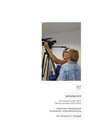 Jahresbericht 2012 (pdf) - Friedl Schöller-Stiftungslehrstuhl für ...