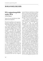 BOKANMELDELSER EU:s migrationspolitik under 50 år - Tapir ...