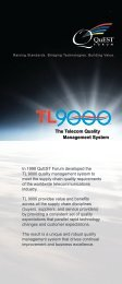 The Telecom Quality Management System - QuEST