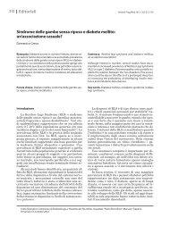 Sindrome delle gambe senza riposo e diabete mellito - Recenti ...