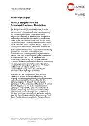 Presseinformation - Maschinenfabrik Berthold Hermle AG