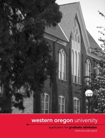 Graduate Student Application - Western Oregon University