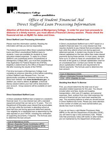 Accept and apply for stud - Student financial aid office ...