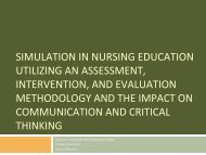 simulation in nursing education utilizing an assessment, intervention ...
