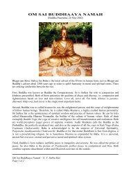 OM SAI BUDDHAAYA NAMAH - Sai Darshan