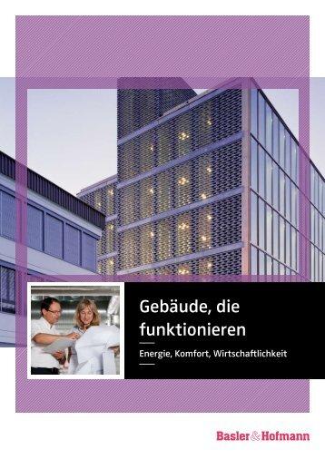 Broschüre Gebäude, die funktionieren - Basler & Hofmann