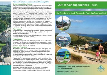 south Purbeck leaflet - Visit Dorset