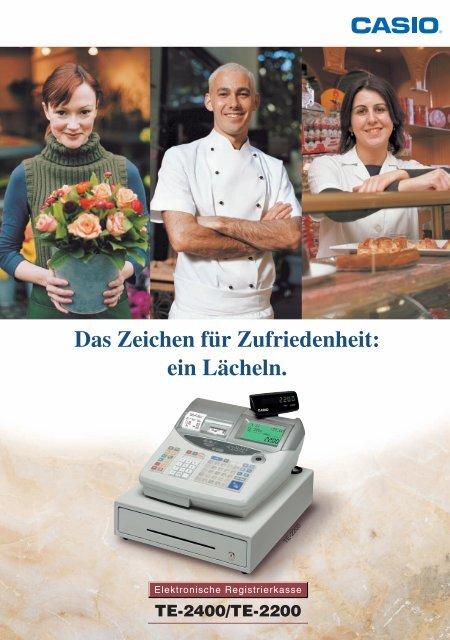 Produktprospekt für die Elektronische ... - CASIO Europe
