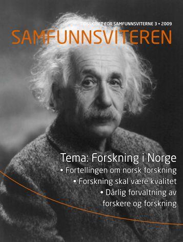 Tema: Forskning i Norge - Samfunnsviterne