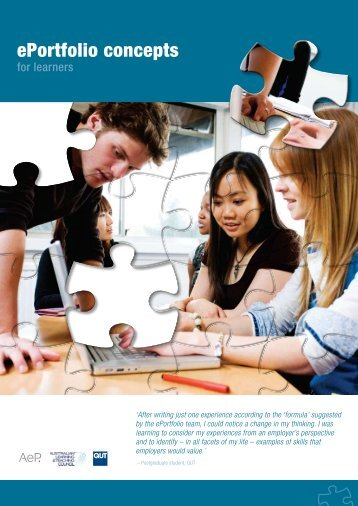 ePortfolio concepts for learners - Australian ePortfolio Project - QUT