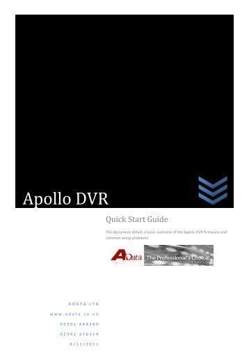 Apollo Quick Start Guide - Firmware Version 2.608 ... - Qvis Security