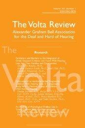 The Volta Review - Alexander Graham Bell Association