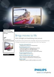 37PFL9604H/60 Philips LCD TV with Ambilight Spectra 2 and ...