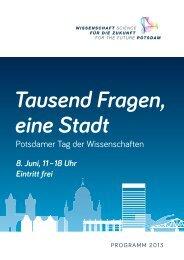 Programmheft (pdf) - Tausend Fragen, eine Stadt
