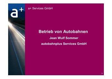 von Jean-Wulf Sommer, autobahnplus Services GmbH - BPPP