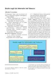 Studio sugli usi alternativi del tabacco - A. Cersosimo - Inea