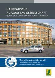 HanseatiscHe aufzugsbau gesellscHaft - Tepper Aufzüge GmbH