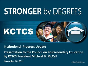KCTCS - Council on Postsecondary Education