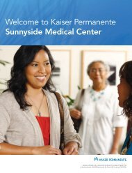 English - Kaiser Permanente Northwest hospital care and services