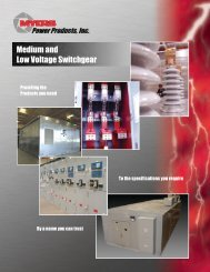 Medium and Low Voltage Switchgear - LGE Electrical Sales, Inc.