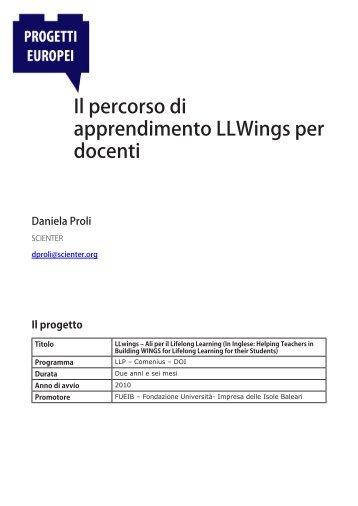 Il percorso di apprendimento LLWings per docenti