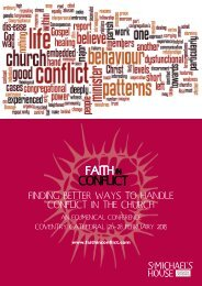 finding better ways to handle conflict in the church - Progressive ...