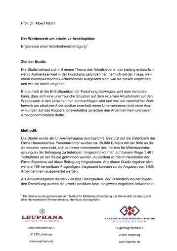 Der Wettbewerb um attraktive Arbeitsplätze - Hanseatisches ...