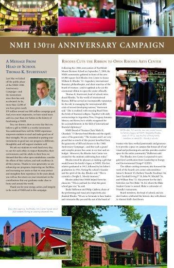 Campaign newsletter (pdf) - Northfield Mount Hermon School