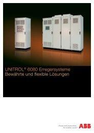 UNITROL® 6080 Erregersysteme Bewährte und flexible Lösungen