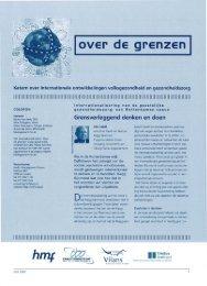 over ·d e grenzen I - STG / Health Management Forum