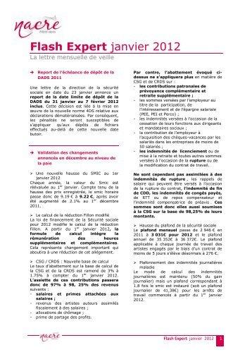 Flash Expert janvier 2012 - La NACRe