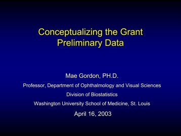 Conceptualizing the Grant Preliminary Data - AWN
