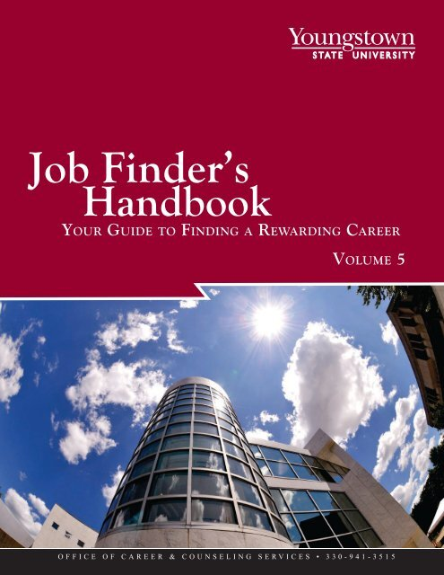 Job Finders Handbook - YSU - Youngstown State University on allegheny college meadville pa campus map, ysu campus building map, ysu building map williamson,