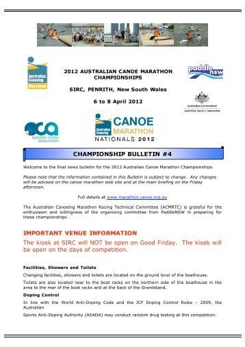 News Bulletin #4 - Canoeing WA - Australian Canoeing