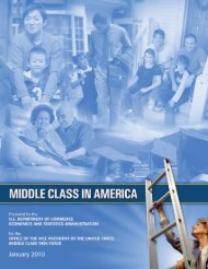 Middle Class in America - Department of Commerce