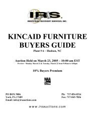 Buyer's Guide - IRS Auctions!