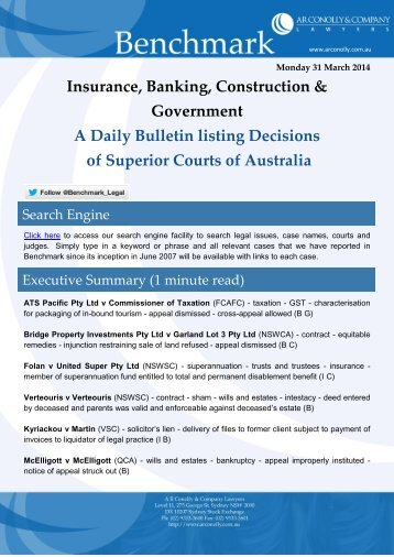 benchmark_31-03-2014_insurance_banking_construction_government