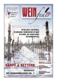 Zeitschrift Weinfeder Journal schreibt: Kampf kämpft sich nach vorne.