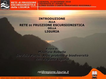 Presentazione di PowerPoint - Ambiente in Liguria